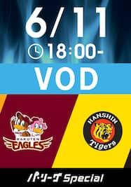 2021/6/11 18:00 楽天 VS 阪神