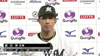 2021/10/15 ロッテ VS ソフトバンク[ロッテ:岡大海]