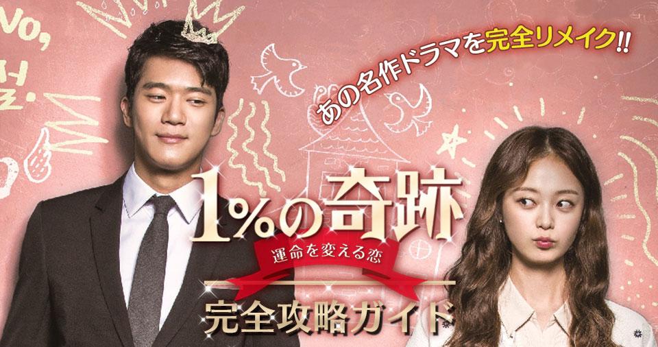 【1%の奇跡~運命を変える恋~】無料動画・相関図・キャスト