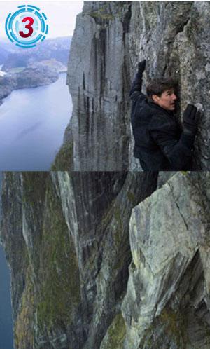 -600Mの断崖絶壁での落下&アクション!