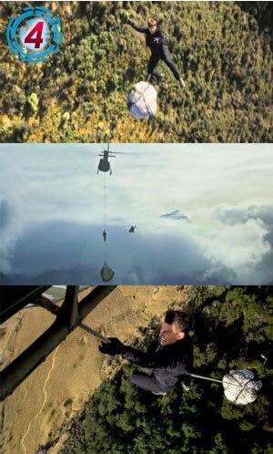 -高度600Mの空飛ぶヘりから決死の落下!