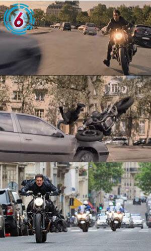 -パリの市中をスピード全開!危険な疾走をする手に汗握るバイク&カーチェイス